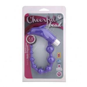 Cheerful Bead Titreşimli Anal Zevk Topları - Mor
