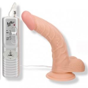 19 cm Curved Ecstasy Eğik Titreşimli Realistik Penis