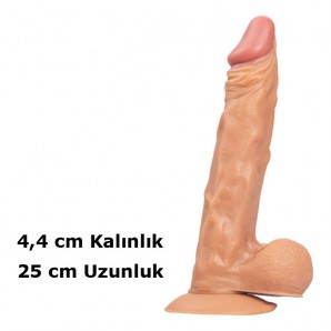 25 cm Dickdo Vantuzlu Ten Rengi Dildo