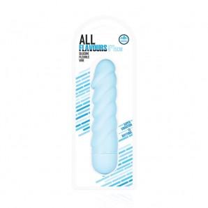 15 cm All Flavours Bükülebilir Titreşimli Silikon Vibratör Mavi