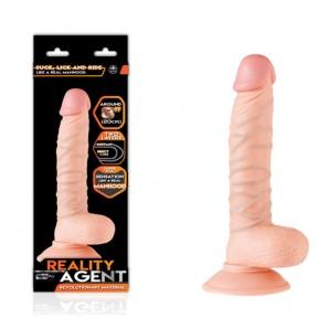 20 cm Reality Agent Çift Dokulu Realistik Penis