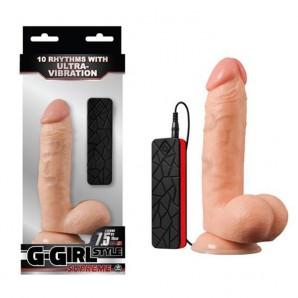 19 cm G-Girl Style Supreme Titreşimli Gerçekçi Penis
