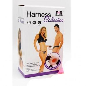 17 cm Harness Titreşimli İçi Boş Belden Bağlamalı Penis