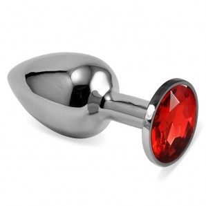 Kırmızı Küçük Boy Taşlı Anal Plug