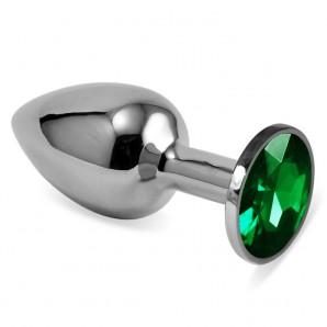 Yeşil Küçük Boy Taşlı Anal Plug