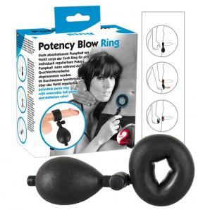 Potency Blow Ring - Pompalı Şişen Penis Halkası