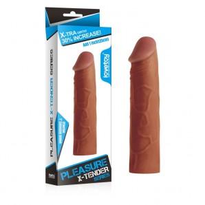 2,5cm Uzatmalı X-Tender Et Penis Kılıfı Melez